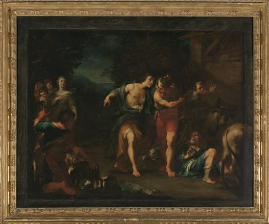 Roman School, First Quarter of the 17th Century  The Death of Simon Magus
