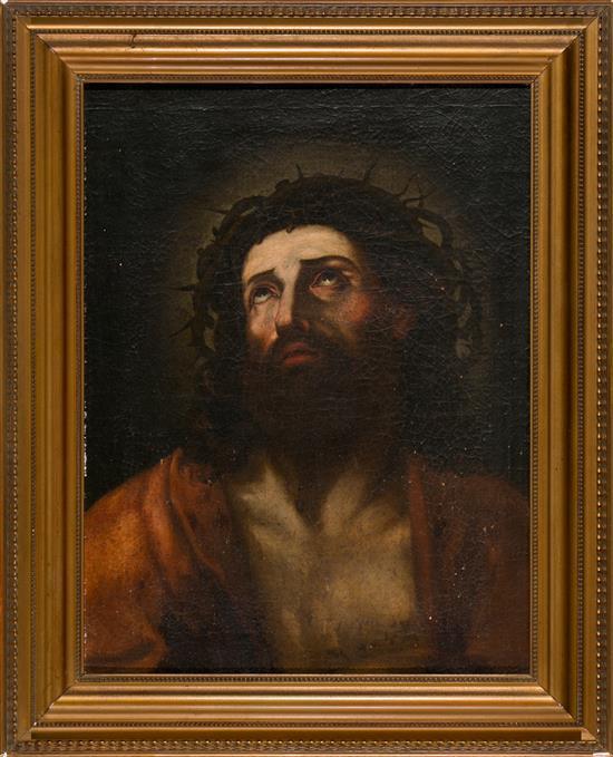 Escuela española del siglo XVII Ecce Homo Óleo sobre lienzo