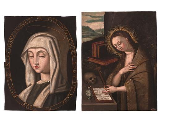 Spanish School, 17th Century The Virgin Mary and Mary Magdalene