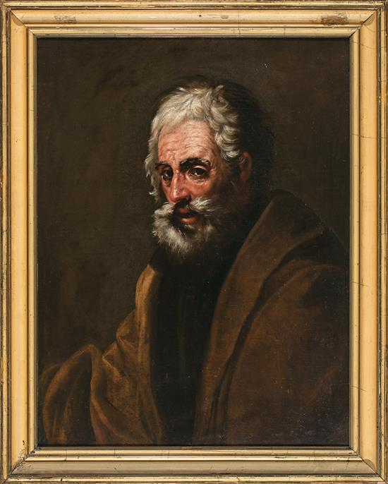 Attributed to Salvator Rosa Nápoles 1615 - Roma 1673 An apostle