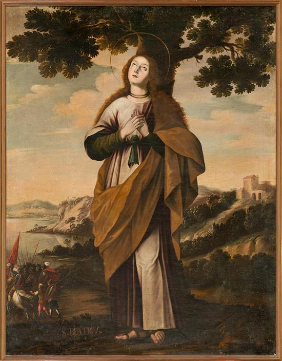 Spanish School, 17th Century  Saint Beatrice of Silva