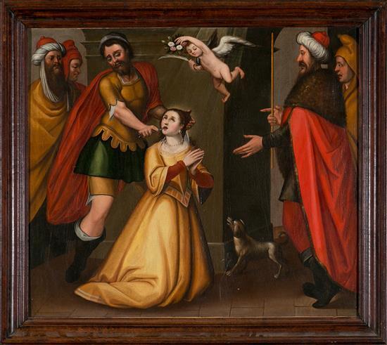 Escuela andaluza del siglo XVII Santa Apolonia Óleo sobre lienzo