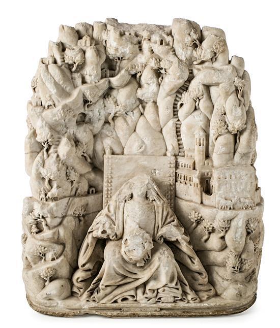 Joan Grau Constantí 1608 - Manresa 1685 Virgen de Montserrat Escultura en alabastro