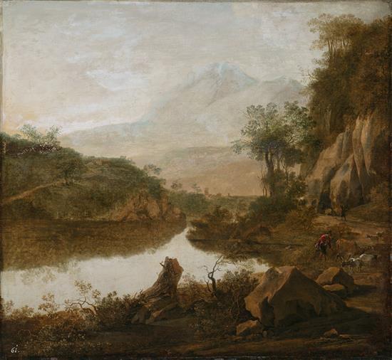 Atribuido a Jan Both Utrecht 1618/1620 - 1652 Paisaje Óleo sobre lienzo