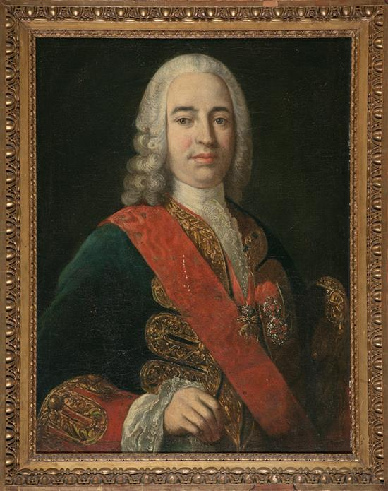 Attributed to Jacopo Amigoni Venecia 1682 - Madrid 1752 Portrait of the Marquis of the Ensenada