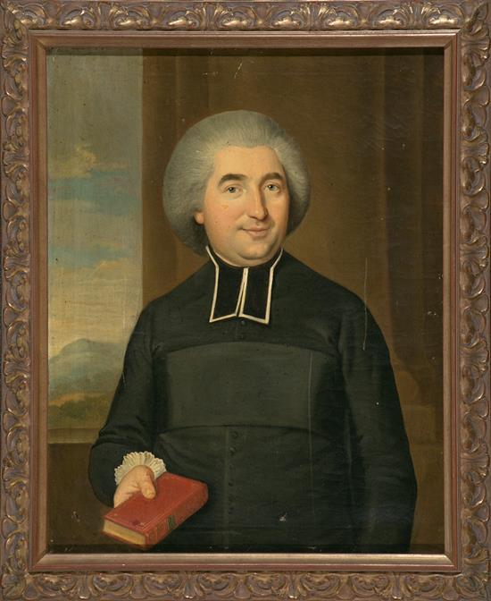 French School, Late 18th Century  Portrait of a Cleric