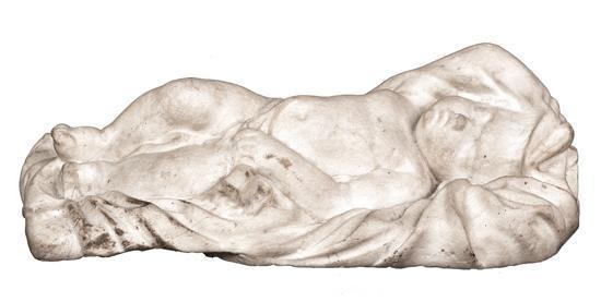 Escuela probablemente italiana del siglo XVIII Niño Jesús dormido Escultura en mármol