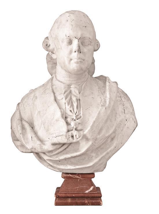 Escuela española de finales del siglo XVIII Carlos IV Busto en mármol