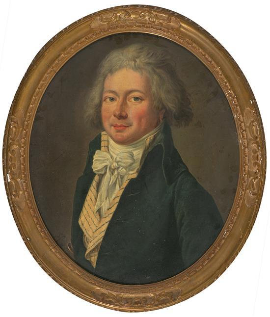 French School, late 18th Century  Male Portrait