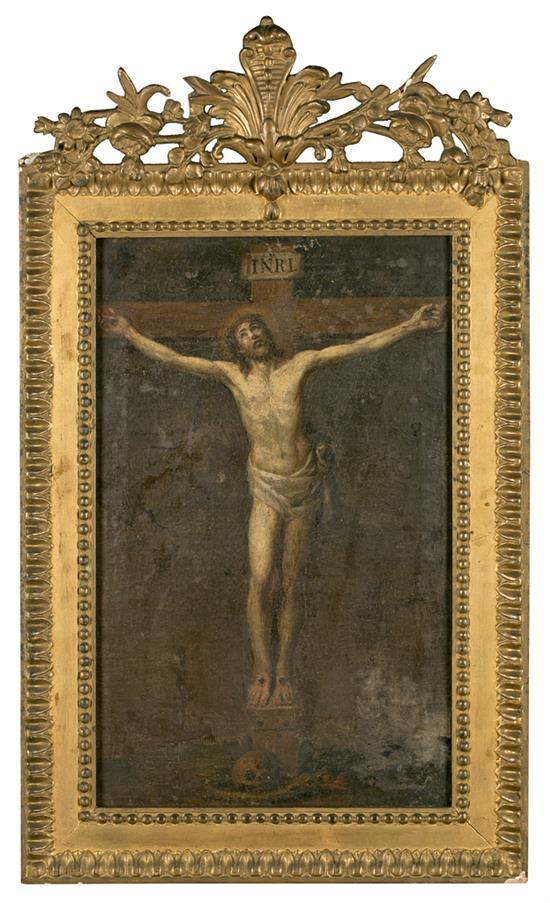 Spanish School, Possibly Late 18th Century The crucifixion of Jesus