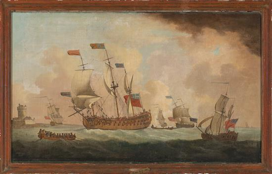 Attributed to Peter Monamy Londres 1681 - 1749 Royal Arrival