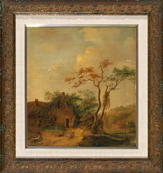 Dutch School, second quarter of the 19th Century Landscape with Cottage