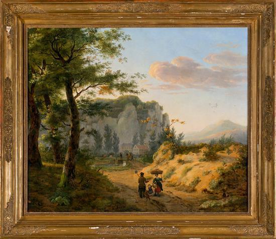 Atribuido a Pierre Victor Verreydt Diest 1814 - 1848 Paisaje Óleo sobre lienzo