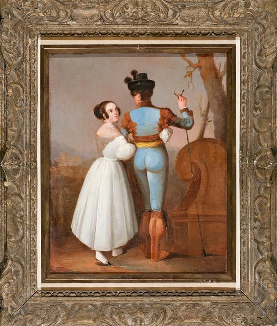 Escuela sevillana de mediados del siglo XIX Tipos andaluces Óleo sobre lienzo