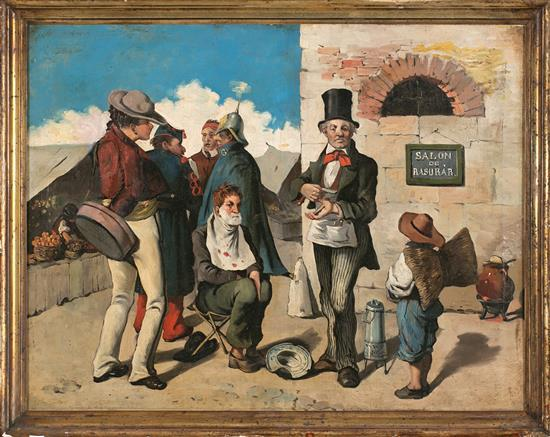 19th Century Spanish school The barber (