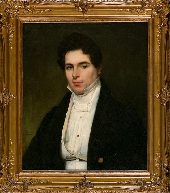 Louis Ammy Blanc Berlín 1810 - Düsseldorf 1885 Portrait of a Youth