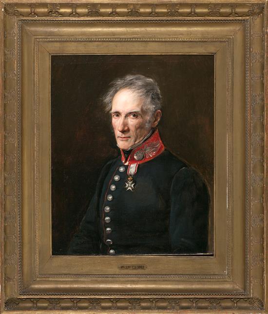 Escuela francesa, hacia 1830 Retrato de un militar Óleo sobre lienzo