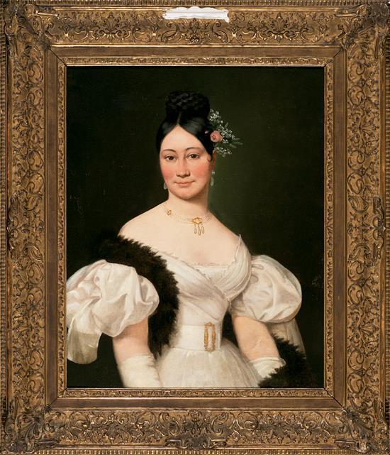 Escuela probablemente francesa, de mediados del siglo XIX Una joven Óleo sobre lienzo