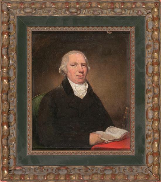 Escuela inglesa del siglo XIX Retrato masculino Óleo sobre lienzo