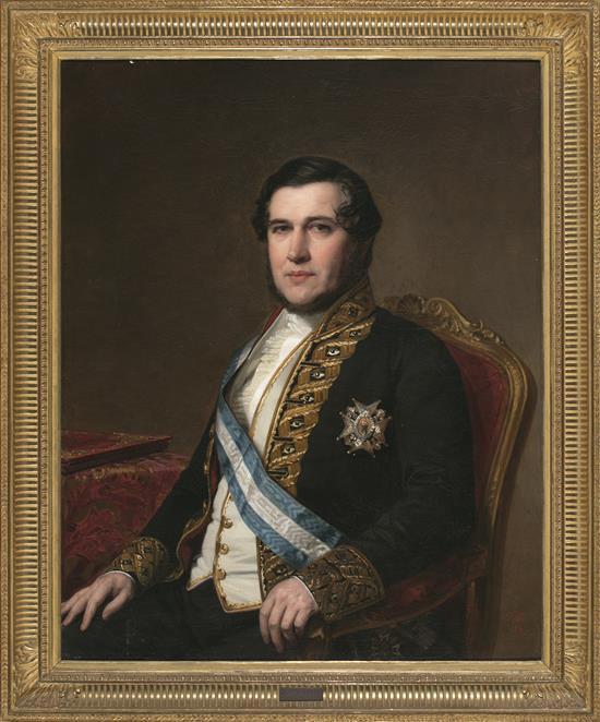 Federico de Madrazo y Kuntz Roma 1815 - Madrid 1894 Retrato de Juan Bravo Murillo Óleo sobre lienzo