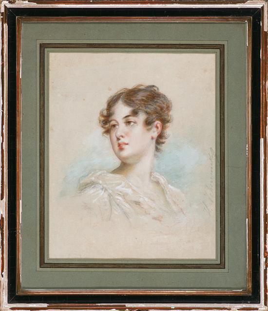Fyodor Chumakov San Petersburgo 1823 - París 1911 Una joven Gouache y acuarela sobre papel