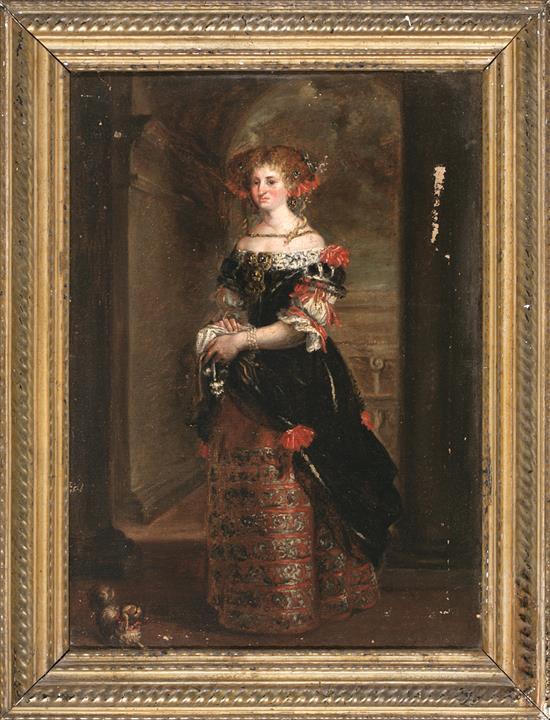 Escuela española del siglo XIX Retrato de una joven Óleo sobre lienzo
