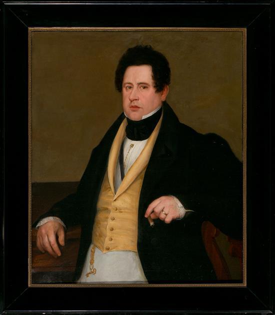 Antonio Mª Esquivel Sevilla 1806 - Madrid 1857 Retrato de un joven Óleo sobre lienzo