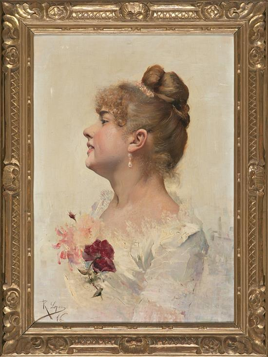 Attributed to Ricardo López Cabrera Cantillana 1864 - 1950 Female Portrait