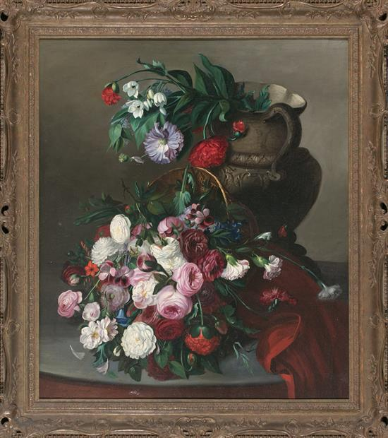 José María Murillo Bracho Sevilla 1827 - Málaga 1882 Flower Vase