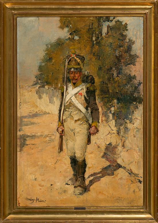 Domingo Muñoz Cuesta Madrid 1850 - 1935 Soldado Óleo sobre lienzo
