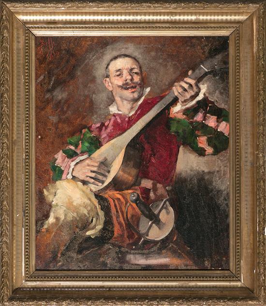 Benito Belli Activo en Barcelona durante la segunda mitad del siglo XIX Un músico Óleo sobre lienzo