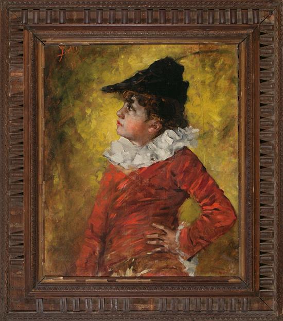 Benito Belli Activo en Barcelona durante la segunda mitad del siglo XIX Un niño Óleo sobre lienzo