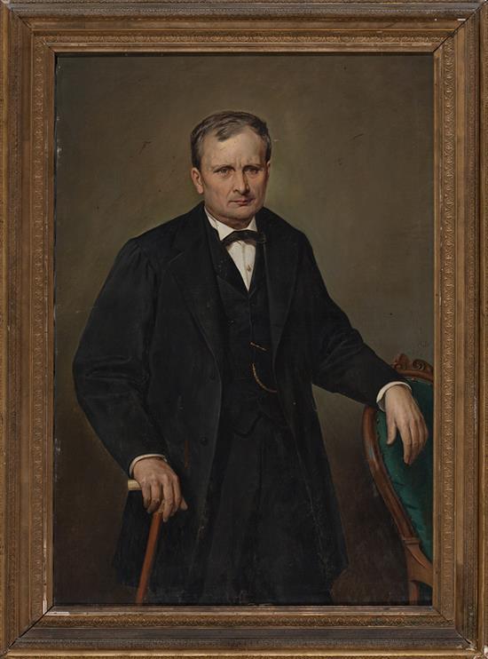 José Gallel y Beltrán Valencia 1825 - 1887 Male Portrait