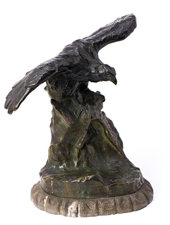Jane Le Soudier Le Mans 1885 - París 1976 Águila Escultura en bronce
