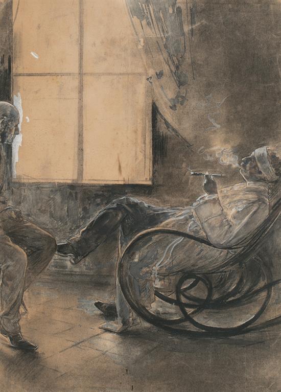 Arcadi Mas i Fondevila Barcelona 1852 - Sitges 1934 Illustration for