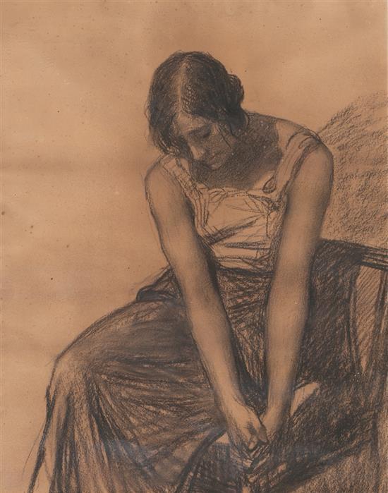 Joan Llimona Bruguera Barcelona 1860 - 1926 Young Lady