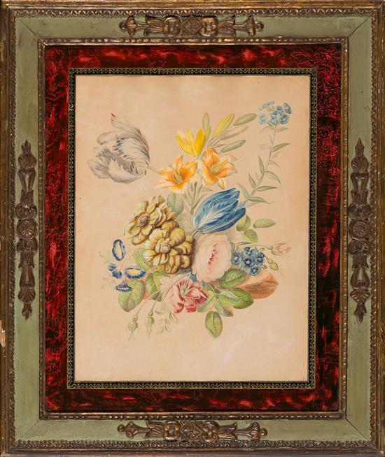 Escuela inglesa, 1816 Flores Acuarela sobre papel