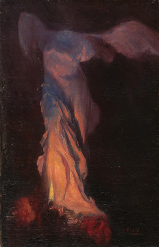 Ricardo Urgell Carreras Barcelona 1874 - 1924 La Victoria de Samotracia Óleo sobre lienzo