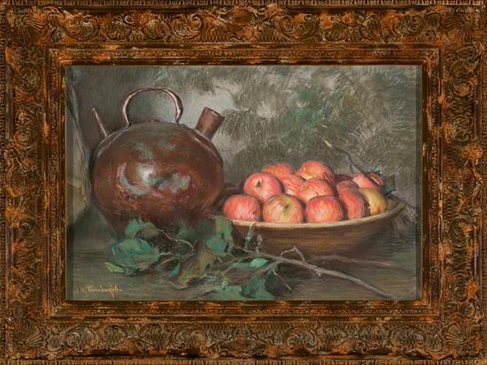 Josep Maria Tamburini Barcelona 1856 - 1932 Bodegón Pastel sobre lienzo