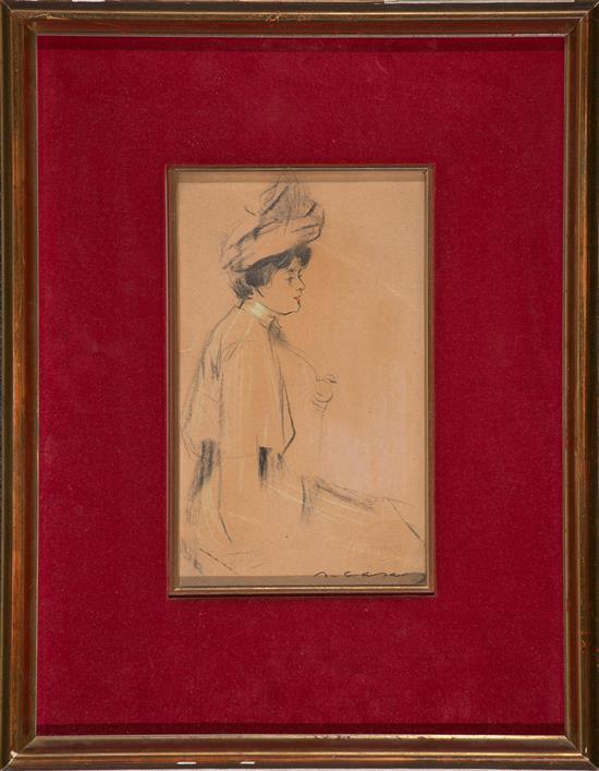 Ramon Casas Carbó Barcelona 1866 - 1932 Young Lady