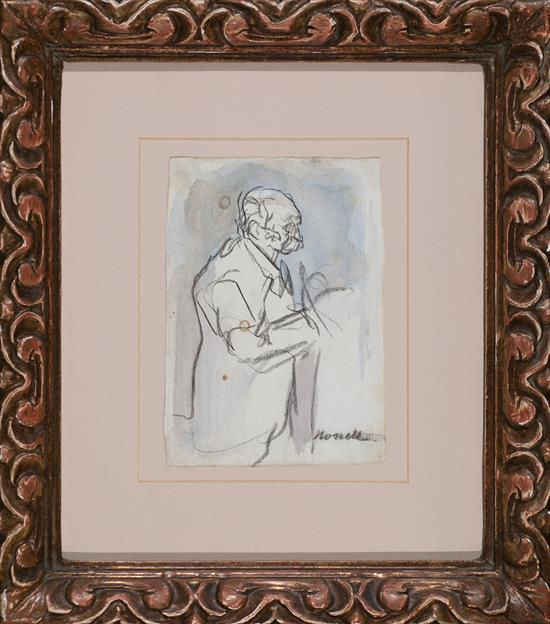 Isidre Nonell Barcelona 1873 - 1911 Elderly Man