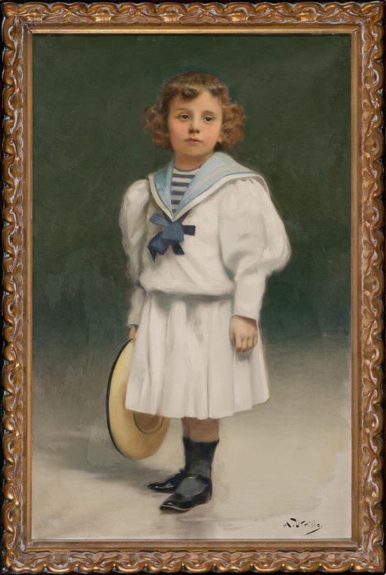 Antoni Utrillo Viadera Barcelona 1867 - 1944 Retrato de la hija del pintor Óleo sobre lienzo