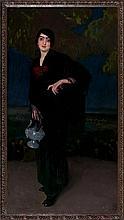 "Baldomero Gili Roig Lleida 1873 - Barcelona 1926 ""La castiza"" Óleo sobre lienzo"