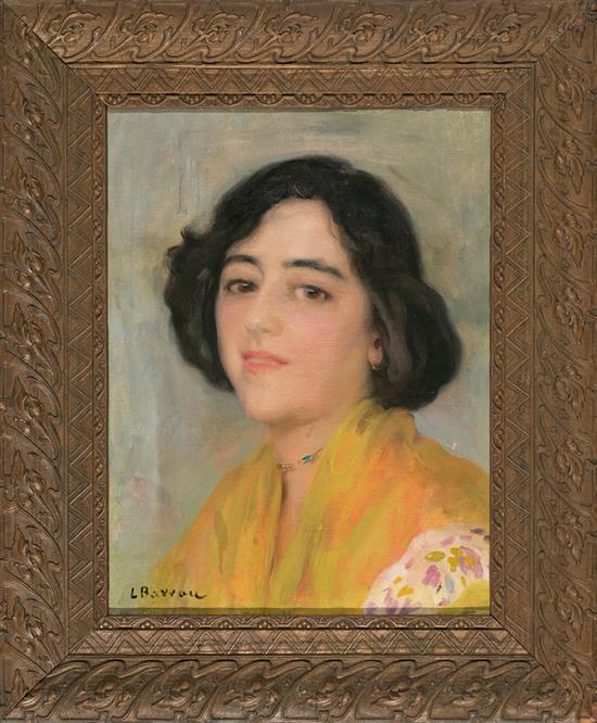Laureà Barrau Barcelona 1864 - Santa Eulàlia del Riu 1957 Una joven Óleo sobre lienzo
