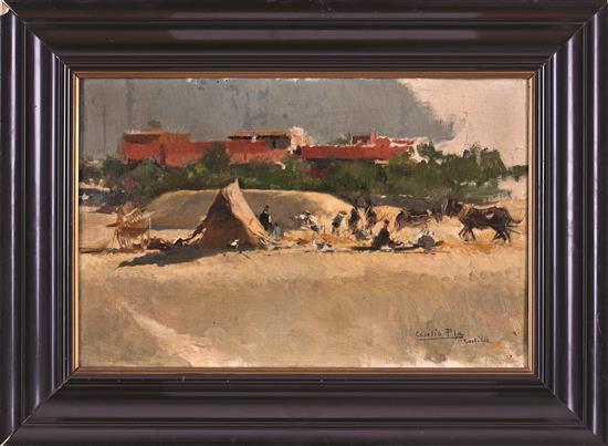 Atribuido a Cecilio Pla Gallardo Valencia 1860 - Madrid 1934 Vista rural Óleo sobre lienzo
