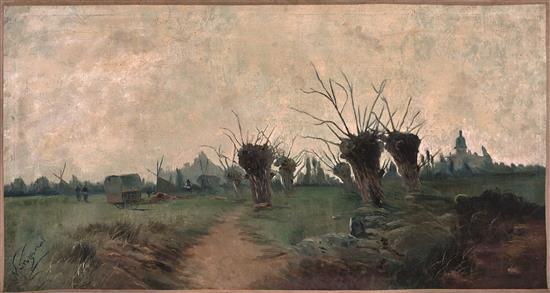 Ricardo Manzanet Valencia 1852 - 1939 Paisaje Óleo sobre lienzo