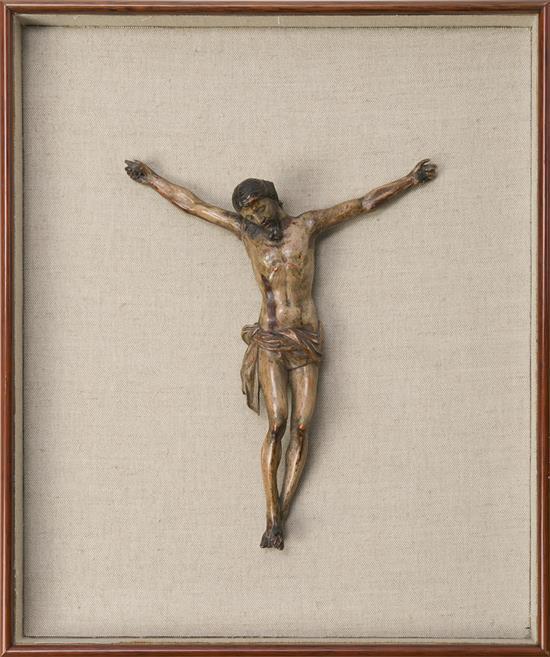 Escuela española del siglo XIX Cristo cruficado Escultura en madera tallada y policromada
