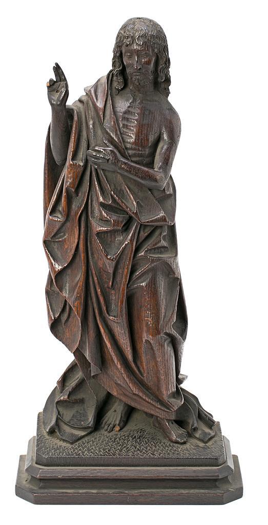 Escuela probablemente española, de la primera mitad del siglo XX Cristo resucitado Escultura en madera tallada