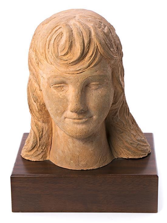 Enric Monjo Vilassar de Mar 1986 - Barcelona 1976 Una joven Busto en terracota