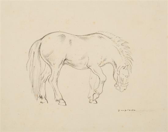 Pere Ynglada Sallent Santiago de Cuba 1881 - Barcelona 1958 Un caballo Dibujo al carboncillo sobre papel